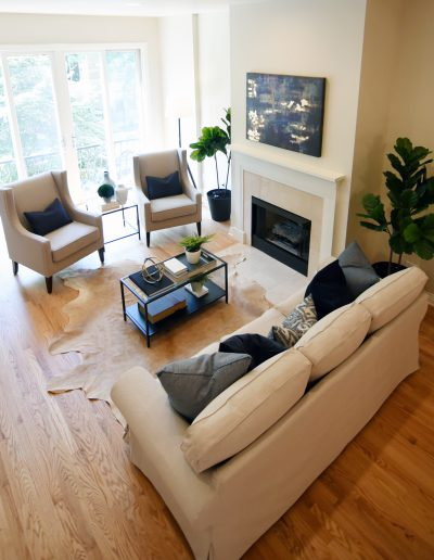 Project: Chicago Townhome Vacant Staging Living Room - Style It Home, LLC