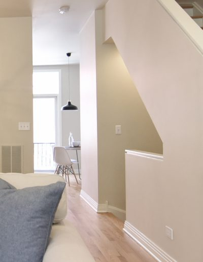 Chicago Townhome Vacant Staging Entryway and Stairs - Style It Home, LLC