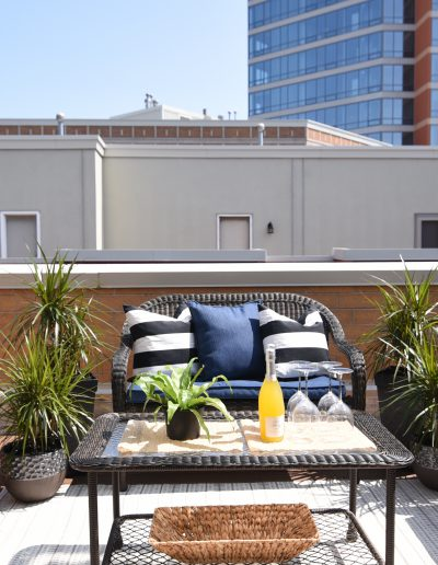 Chicago Townhome Vacant Staging Outdoor Deck Space - Style It Home, LLC