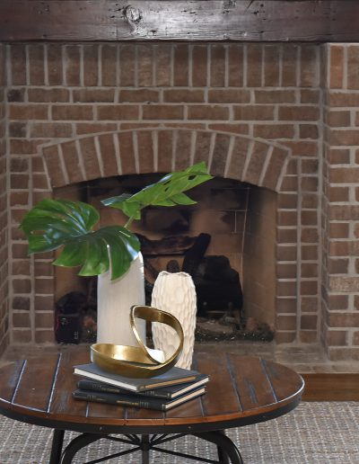 Prairie Lakes Occupied Staging Fireplace - Style It Home, LLC
